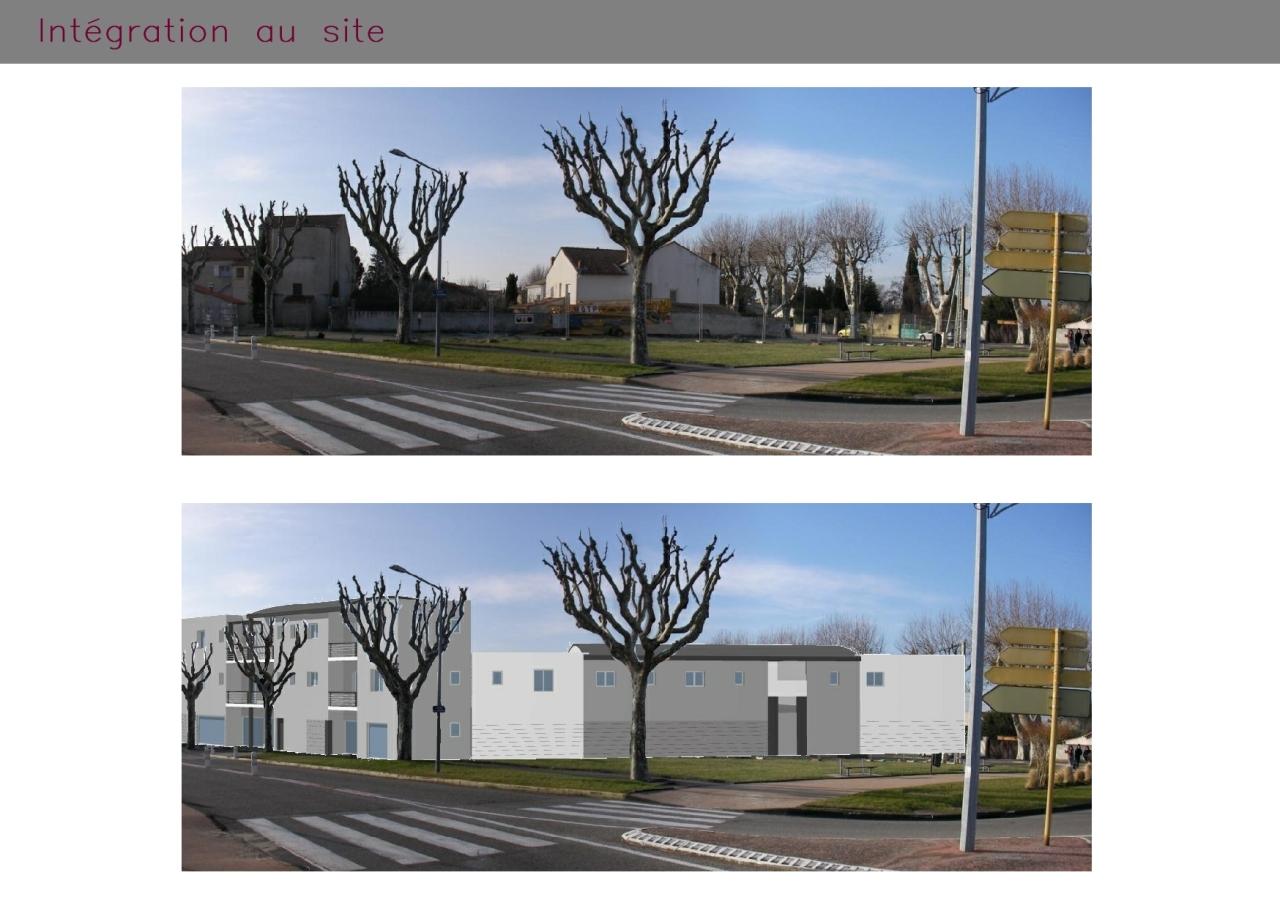 Immeuble et ses commerces intégré à Pierrelatte (Drôme)
