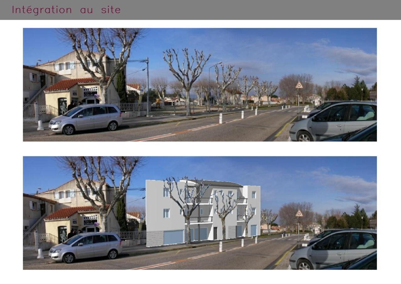 Appartements et magasins à Pierrelatte : photomontage
