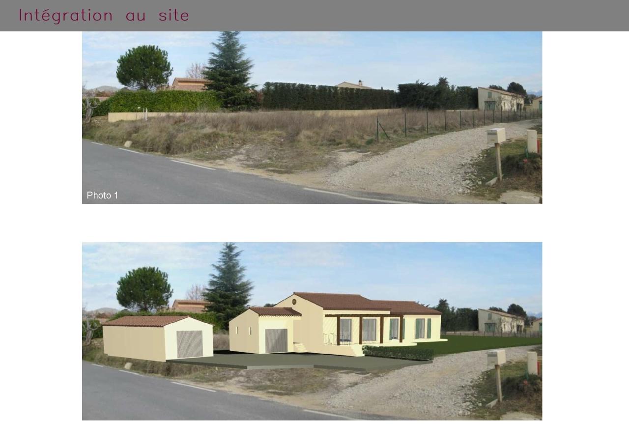 Photomontage d'une maison individuelle à Puyméras (Vaucluse)