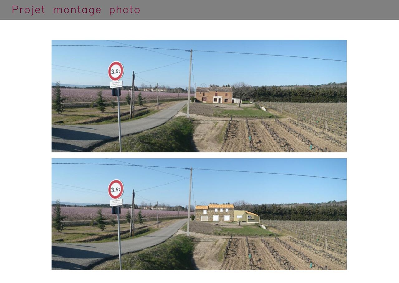 Intégration d'une ferme rénovée à Saint-Paul-Trois-Châteaux (Drôme)