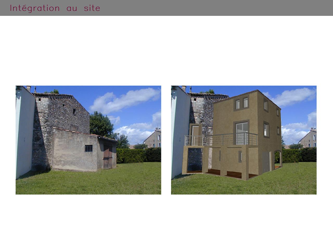 Intégration au site d'une villa aux normes PMR à Donzère (Drôme)