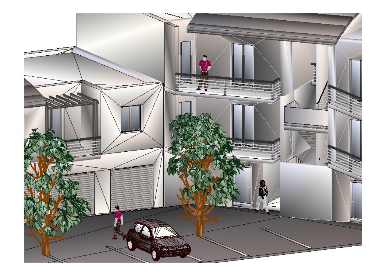 Habitations collectives : modélisation 3D