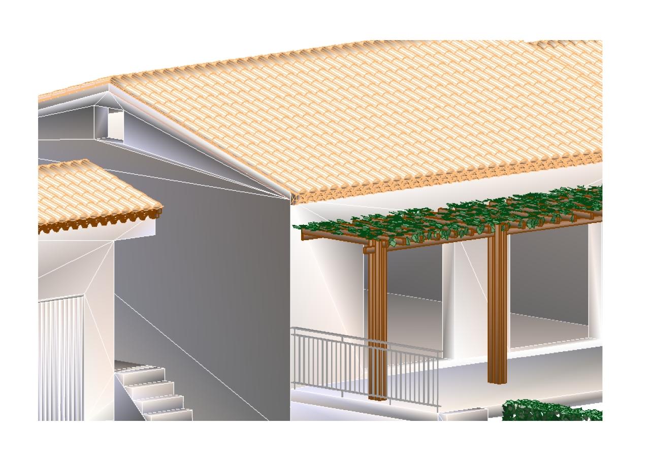 Infographie en 3 dimensions d'une maison