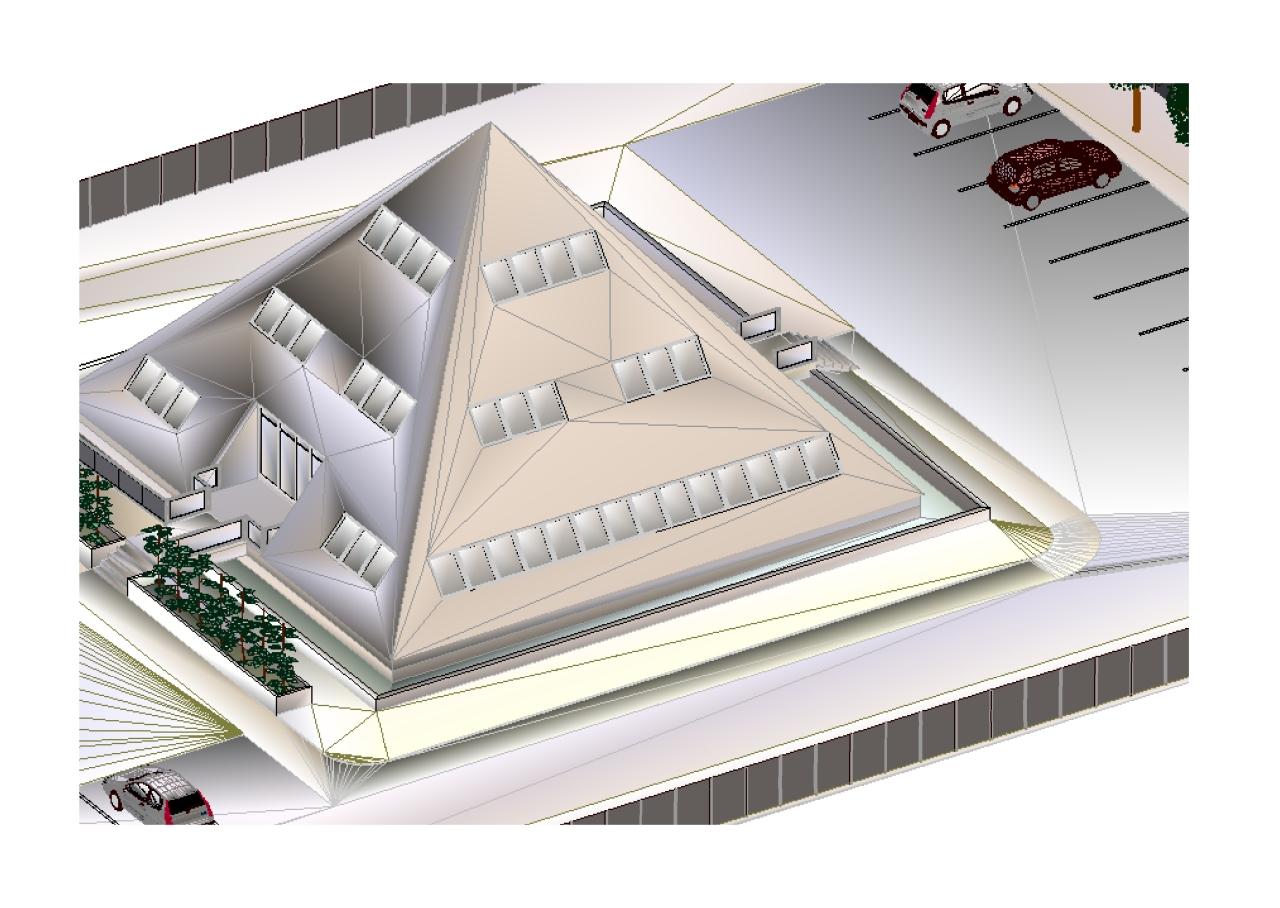 Bureaux professionnels - aperçu extérieur en 3D