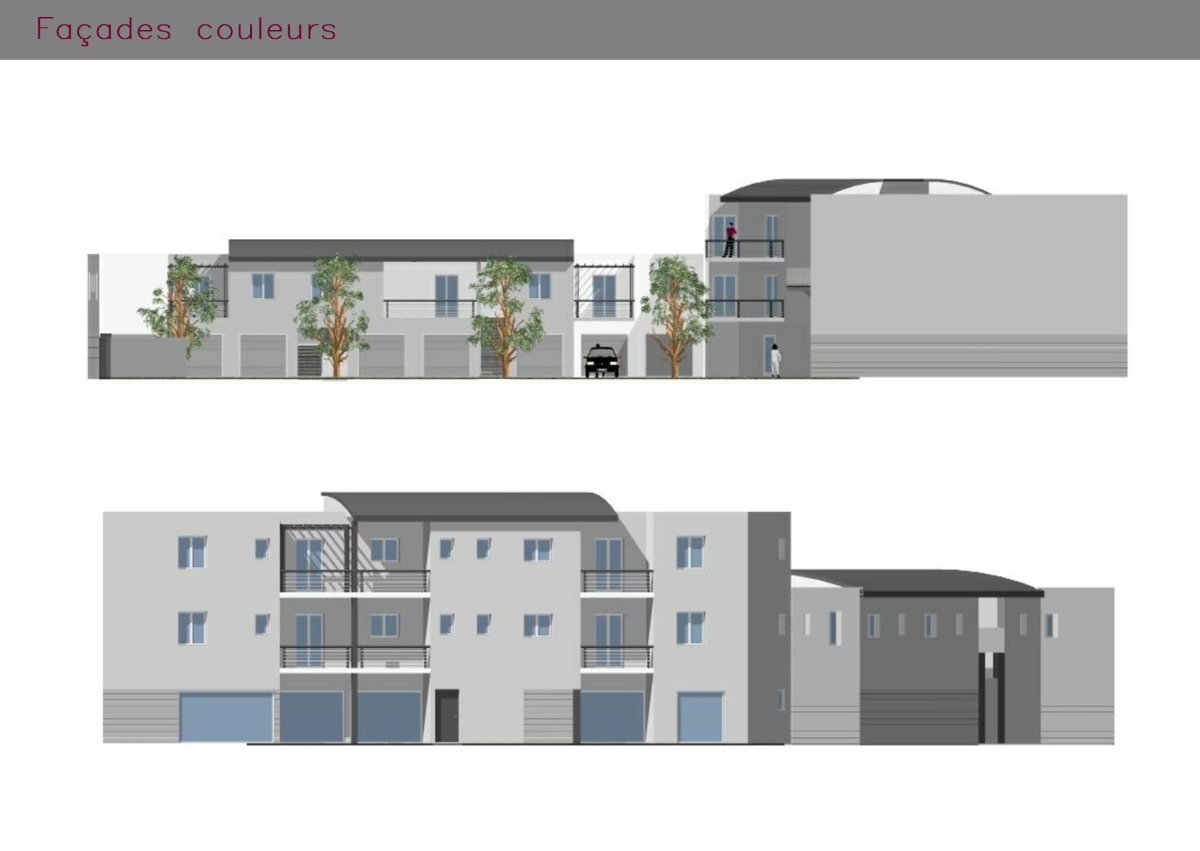 Immeuble : façades en couleurs