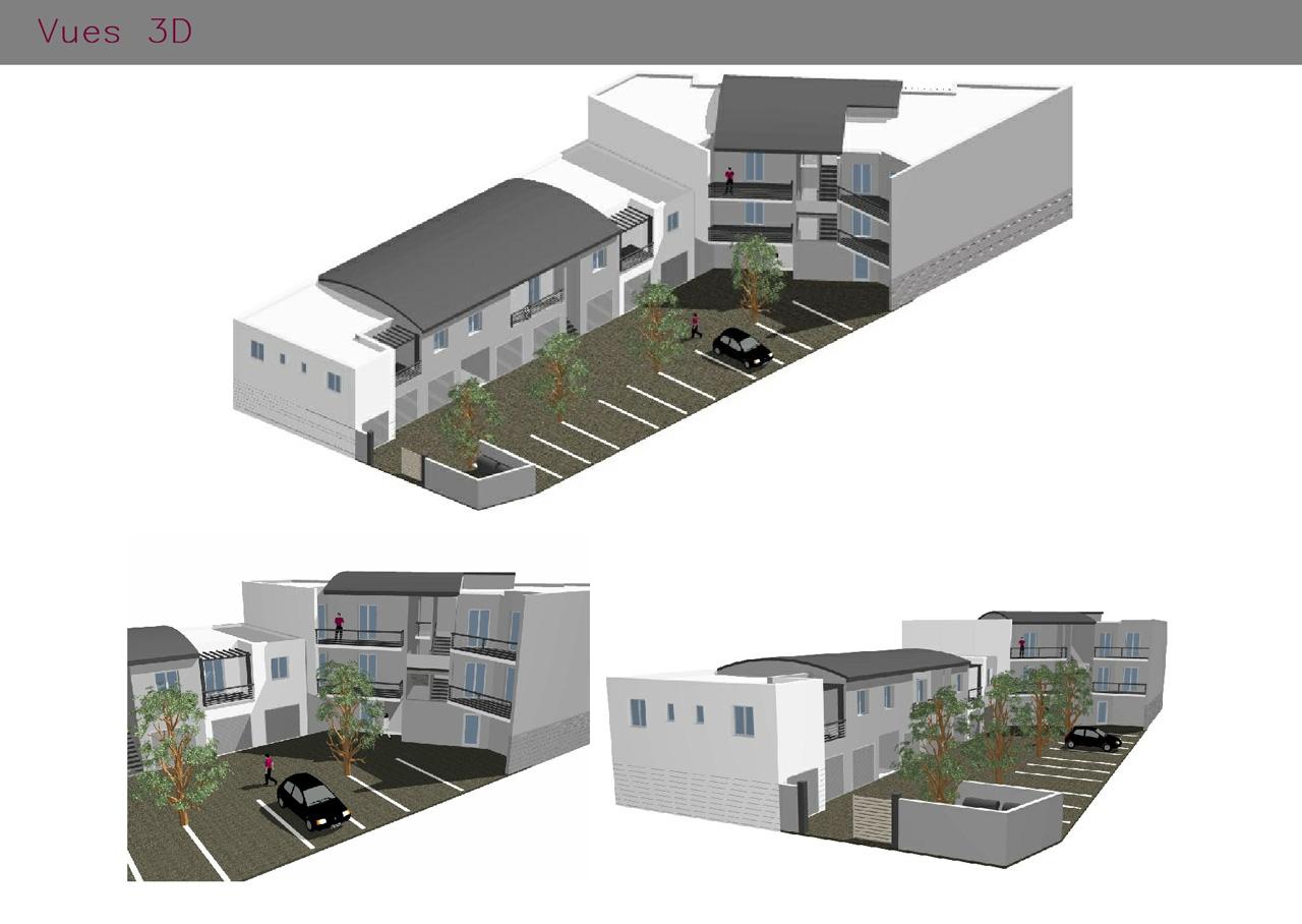 Vues en 3D des logements et des commerces