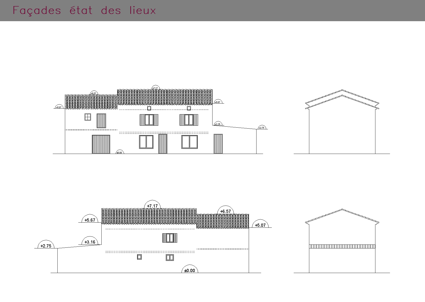 Etat des lieux des façades avant rénovation