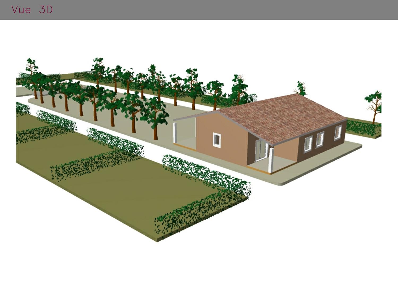 modélisation 3D de l'accueil d'un camping