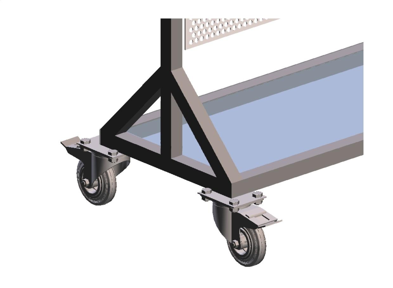 Aperçu en 3 dimensions d'un chariot mobile