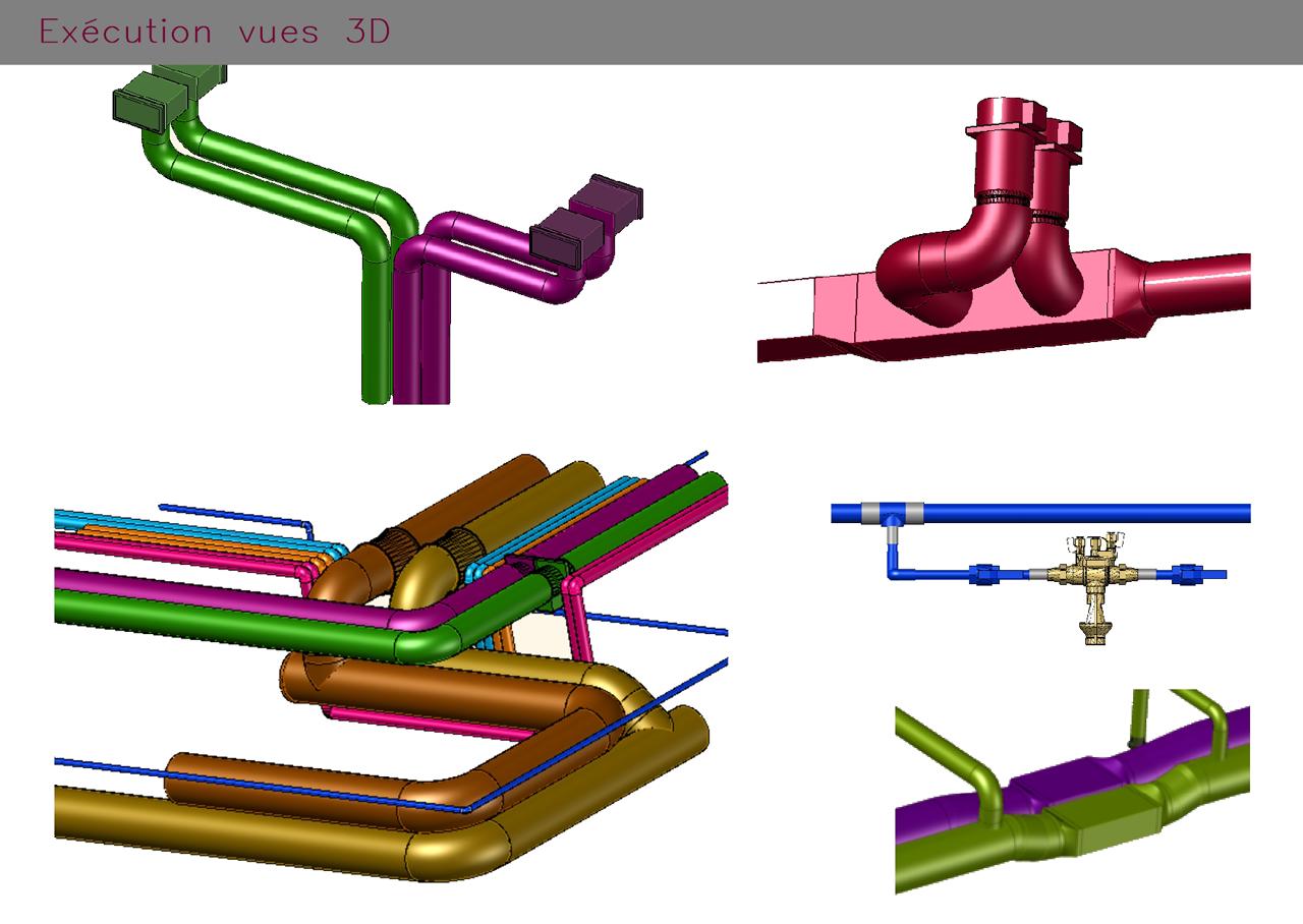 Modélisation en 3D de tuyauterie industrielle