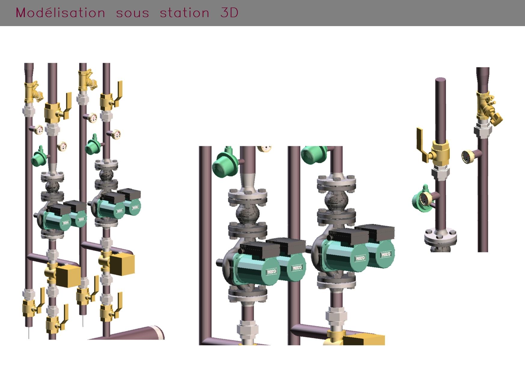 Modélisation sous station en 3 dimensions