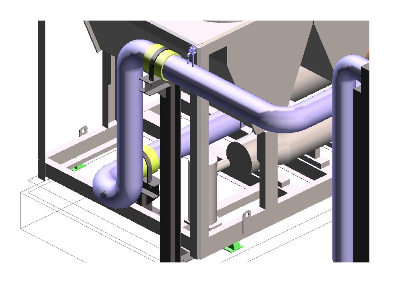 Modélisation 3D : support tuyauterie industrielle
