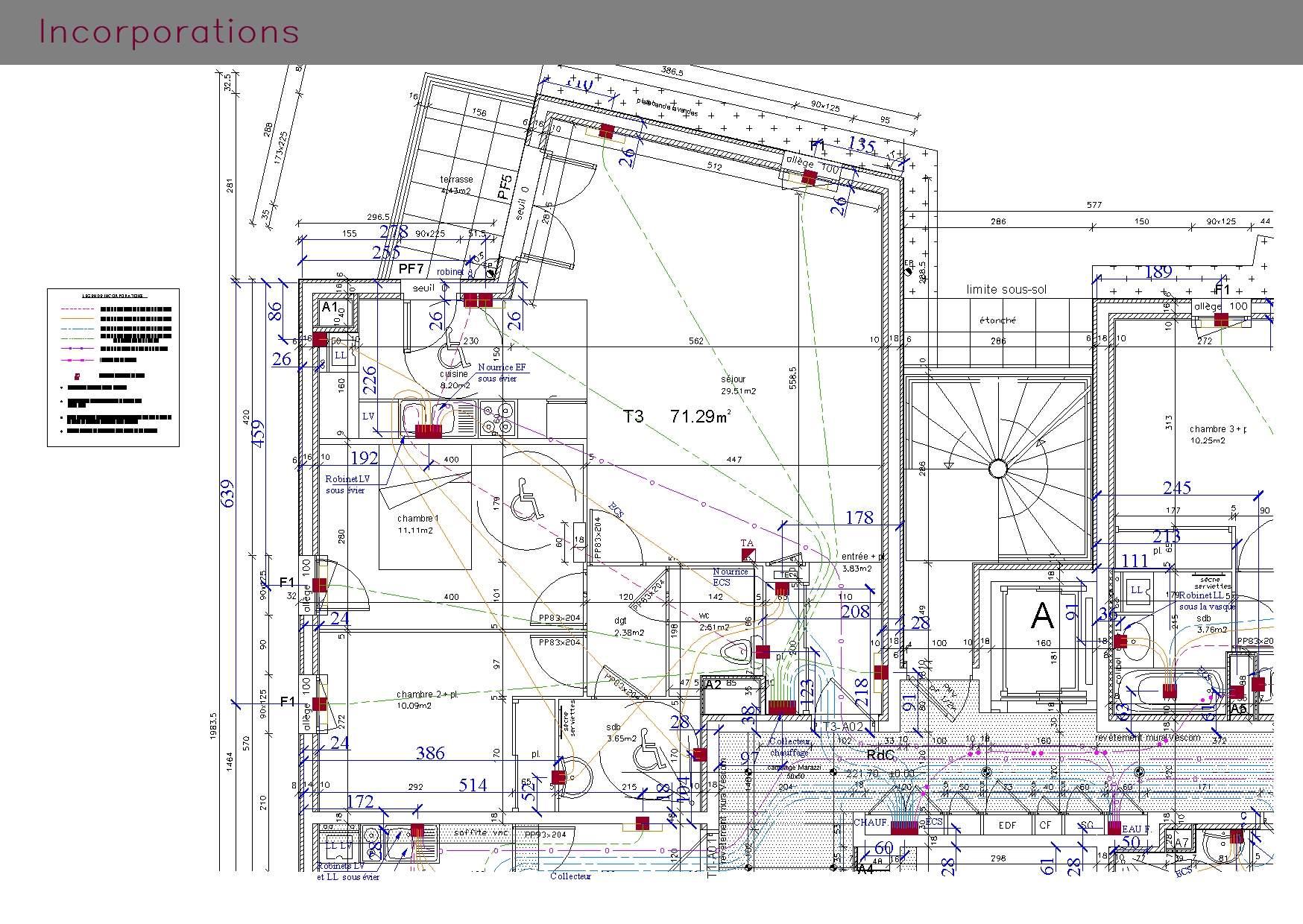 Plans d'incorporations